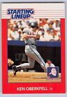 1988  KEN OBERKFELL - Kenner Starting Lineup Card - ATLANTA BRAVES