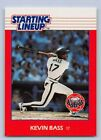 1988  KEVIN BASS - Kenner Starting Lineup Card - HOUSTON ASTROS