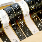 Gold Silver Foil Printing Japanese Washi Paper Tape Sticker Adhesive DIY Crafts