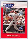 1988  GREG WALKER - Kenner Starting Lineup Card - CHICAGO WHITE SOX