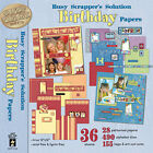 Paper Pizazz Busy Scrappers Solution Birthday Papers by HOTP