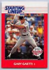 1988  GARY GAETTI - Kenner Starting Lineup Card - MINNESOTA TWINS