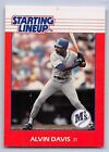 1988  ALVIN DAVIS - Kenner Starting Lineup Card - SEATTLE MARINERS
