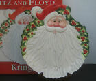 Fitz & Floyd Kringle Santa Canape Plate Christmas 2005 in Box