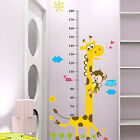 Removable Height Chart Measure Wall Sticker Decal for Kids Baby Room Giraffe US