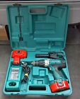 Makita 8444D 18V Cordless Hammer Drill 2 Good Batteries Case Charger