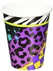 ANIMAL PRINT Totally 80s 9oz PAPER CUPS 8 Birthday Party Supplies Beverage
