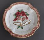 Fitz & Floyd Holiday Bells Canape Plate 8.5