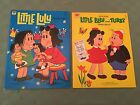 Little Lulu Whitman Paper Doll Books Two 1973  1974 Uncut Ex Cond