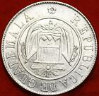 Uncirculated 1870 Guatemala 50 Centavos Silver Foreign Coin Free S/H