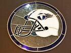 NFL Tennessee Titans Team Logo Stained Glass Round Wall Window Art 11 3 4