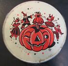 Vintage Halloween TAMBOURINE US Metal Toy Co 1940s or 50s
