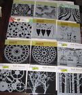 The Crafters Workshop 6 x 6 Stencil Template Lot of 12 New BN3