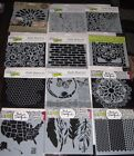 The Crafters Workshop 6 x 6 Stencil Template Lot of 12 New BN4