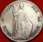 1845 Peru 8 Reales Silver Foreign Coin Free S/H