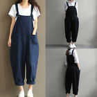 Vintage Womens Jumpsuit Bib Cargo Pants Harem Oversized Overalls Dungaree Cheap