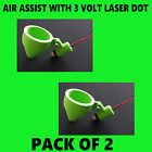 CHINESE / EBAY LASER CUTTER /ENGRAVER AIR ASSIST NOZZLE INC 3V LASER DOT, 2 PACK