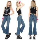 Vtg 90s Abercrombie  Fitch FLARED High Waist Bell Bottoms Jeans Hippie Club Kid