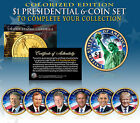 2016 Presidential 1 Dollar COLOR 2 SIDED LIVING PRESIDENTS 6 Coin Set w Trump