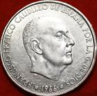 Uncirculated 1966 Spain 100 Pesetas Silver Foreign Coin Free S/H