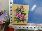 1997 stampendous classic rose bouquet with babies breath rubber stamp 29r