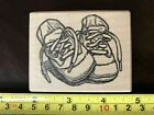 Toomuchfun Rubberstamps Baby Shoes rubber stamp