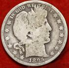 1895-O New Orleans Mint Silver Barber Half Dollar Free Shipping!