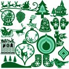 Decor Merry Christmas Scrapbooking Embossing Stencil Cutting Dies Cards Making