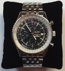 Breitling Navitimer World Automatic Chronograph Stainless Steel Watch