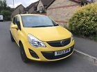 LARGER PHOTOS: Yellow 2013 Vauxhall Corsa 1.2 1.3 CDTi Diesel ECOFLEX A/C (£30 Year tax) 5 Door
