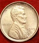 Uncirculated 1909 Philadelphia Mint Copper Lincoln Wheat Cent Free S/H