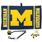 MICHIGAN WOLVERINES WAFFLE GOLF TOWEL 14X24 BRUSH BALL 6 COLOR TEES WINCRAFT
