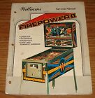 Williams Firepower II Service Manual complete