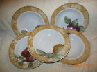 set of 5 222 Fifth CORTLAND Soup bowls Cheri Blum 2 pear 1 apple 1 grape 1 plum