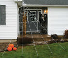 Super Giant Large Outdoor Yard 12 Rope Spider Web Halloween Spooky Scary Decor