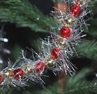 9 feet Red  Silver Gold Beads  Silver Tinsel Garland  for Feather trees