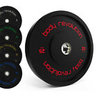 Olympic Bumper Plates Rubber Weight 2 Disc Crossfit Powerlifting Strength Gym