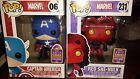 Funko Pop 2017 summer convention exclusive #06 Capt. America & #231 Red She-Hulk
