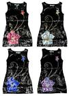 Girls Bold Flower Sequin Front Party Glitzy Sleeveles Fashion Dress 3 12 Years