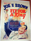 FIT FOR A KING ORIGINAL VINTAGE ONE SHEET MOVIE POSTER 1937
