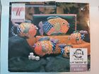 PESCADA 6-Piece Fish Set Hand Painted Collection Tabletops Unlimited 1995