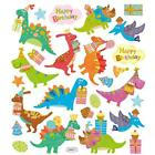 Scrapbooking Crafts Stickers Happy Birthday Dinosaurs Party Hats Presents Cake