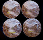 Vintage JOHNSON BROTHERS Set of 4 Bread & Butter Plates OLDE ENGLISH COUNTRYSIDE