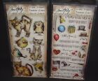 Lot of 2 sets Tim Holtz Clear Stamps NEWSEALED Things Talk Crazy Cats Birds