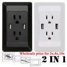 50x Dual USB Port Wall Socket Charger AC Power Receptacle Outlet Plate Panel Lot