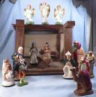 Vintage Nativity Set Baby Jesus Mary Joseph Stable Wise Men Angels Mixed Lot