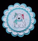 Very Rare LIL SNOW PUPPY DOG winter socks  scarf wood rubber stamp
