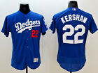 Clayton Kershaw Los Angeles Dodgers White Blue Gray MLB Flex Base Jersey NWT