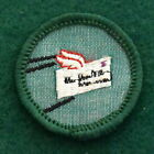 VINTAGE GIRL SCOUT BADGE CHEESECLOTH BACK PEN PAL