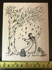 Stampa Rosa Diane Shaw Girl Singing Under a Tree rubber stamp NEW